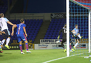 Penalty shout - Inverness Caledonian Thistle's Greg Tansey blocks Paul McGowan's cross with his hand - Inverness Caledonian Thistle v Dundee, SPFL Premiership at Tulloch Caledonian Stadium<br /> <br />  - &copy; David Young - www.davidyoungphoto.co.uk - email: davidyoungphoto@gmail.com