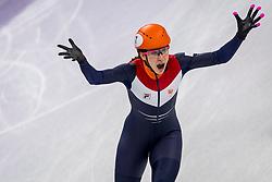 22-02-2018 KOR: Olympic Games day 13, PyeongChang<br /> Short Track Speedskating / Shorttrackster Suzanne Schulting heeft dankzij een magistrale finale de olympische titel veroverd op de 1.000 meter.