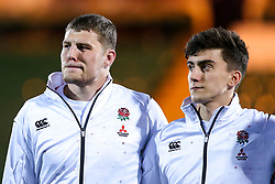 Tom Willis of England U20 and Cameron Redpath of England U20 - Mandatory by-line: Robbie Stephenson/JMP - 15/03/2019 - RUGBY - Franklin's Gardens - Northampton, England - England U20 v Scotland U20 - Six Nations U20