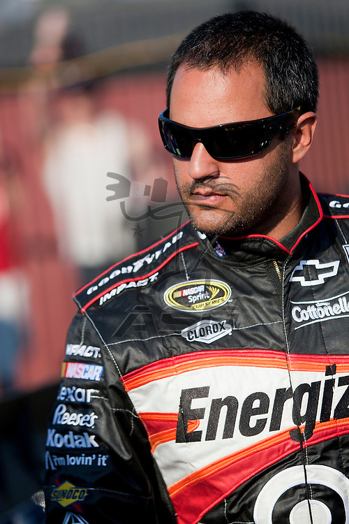 CONCORD, NC - MAY 20, 2011:  Juan Pablo Montoya prepares to take to the track for the All-Star Race qualifying session at the Charlotte Motor Speedway in Concord, NC.