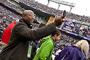 Retired Baltimore Ravens wide receiver Quadry Ismail during the Baltimore Ravens Super Bowl XLVII Celebration at M&T Bank Stadium on Tuesday, February 5, 2013 in Baltimore, MD.