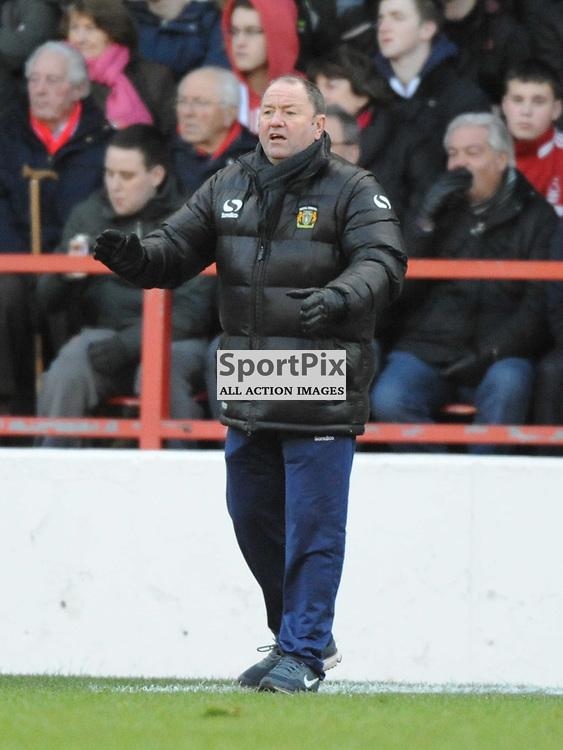 Gary Johnson Manager Yeovil Town, Nottingham Forest v Yeovil, Sky Bet Championship, Sunday 2nd Febuary 2014