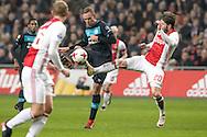18-12-2016: Voetbal: Ajax v PSV: Amsterdam<br /> <br /> (L-R) Siem de Jong scoort de 1-1 tijdens het Eredivisie duel tussen Ajax en PSV op 18 december in De Arena tijdens speelronde 17<br /> <br /> Eredivisie - Seizoen 2016 / 2017<br /> <br /> Foto: Gertjan Kooij