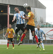 Dundee's James McPake and Partick Thistle's Daniel Seaborne - Dundee v Partick Thistle, SPFL Premiership at Dens Park<br /> <br />  - &copy; David Young - www.davidyoungphoto.co.uk - email: davidyoungphoto@gmail.com