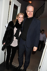CAROLYN DAILEY and HANS ULRICH OBRIST at a dinner for the Serpentine Gallery's Council held at Morton's, Berkeley Square, London on 5th December 2011.