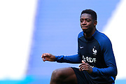 France's forward Ousmane Dembele takes part in a training of the team of France before the Friendly Game between France and England on June 12, 2017 at Stade de France in Saint-Denis, France - Photo Benjamin Cremel / ProSportsImages / DPPI