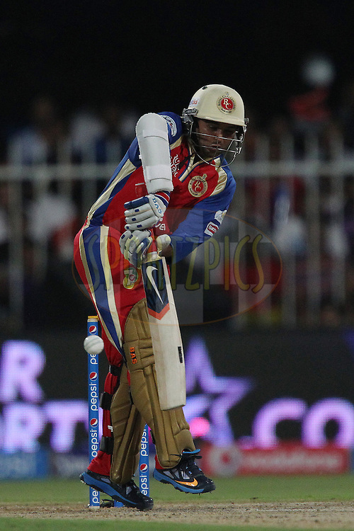 Parthiv Patel during match 2 of the Pepsi Indian Premier League Season 7 between the Delhi Daredevils and The Royal Challengers Bangalore held at the Sharjah Cricket Stadium, Sharjah, United Arab Emirates on the 17th April 2014<br /> <br /> Photo by Ron Gaunt / IPL / SPORTZPICS