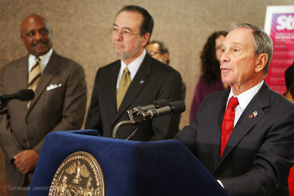 29 November 2010- New York, NY- Mayor Michael Bloomberg at the ' Stat! For NYC's Public Hospitals! ' Press Conference held at Kings County Hospital on November 29, 2010 in Brooklyn, NY. Photo Credit: Terrence Jennings