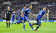 Chelsea's John Terry celebrates his goal 1-0 during the Capital One Cup Final between Chelsea and Tottenham Hotspur at Wembley Stadium, London, England on 1 March 2015. Photo by Phil Duncan.