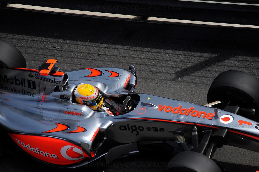 McLaren driver Lewis Hamilton photographed during Qualifying for the 2009 Monaco Grand Prix.