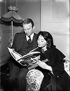 17/06/56<br /> 06/17/1956<br /> 17 July 1956<br /> <br /> Heads at Theatre Royal for Cyril Cusack's production 'Juno and the Paycock' - Cyril Cusack and Siobhan McKenna