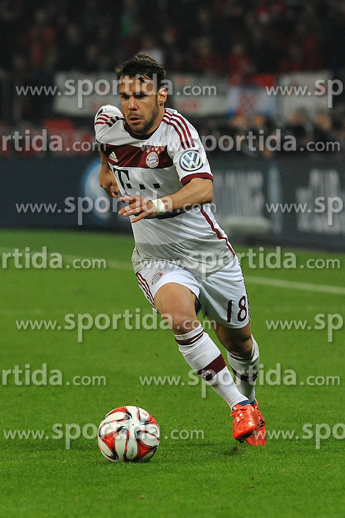 08.04.2015, BayArena, Leverkusen, GER, DFB Pokal, Bayer 04 Leverkusen vs FC Bayern Muenchen, Viertelfinale, im Bild Juan Bernat ( FC Bayern Muenchen ) // during the German DFB Pokal quarter final match between Bayer 04 Leverkusen and FC Bayern Munich at the BayArena in Leverkusen, Germany on 2015/04/08. EXPA Pictures &copy; 2015, PhotoCredit: EXPA/ Eibner-Pressefoto/ Thienel<br /> <br /> *****ATTENTION - OUT of GER*****