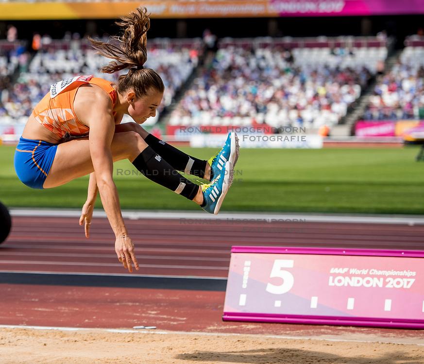 06-08-2017 IAAF World Championships Athletics day 3, London<br /> Nadine Visser NED (zevenkamp) verspringen