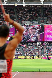London, August 12 2017 . Keisuke Ushiro, Japan, the men's decathlon javelin on day nine of the IAAF London 2017 world Championships at the London Stadium. © Paul Davey.