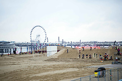 November 10, 2018 - The Hague, Netherlands - Riders compete in the 'Red Bull Knock Out' motocross race on Sheveningen beach near , The Hague, on November 10, 2018. - This is one of the largest and toughest motocross beach races in the world in which both amateurs and pro motocross riders are contending for the title. (Credit Image: © Goncalo Silva/NurPhoto via ZUMA Press)