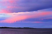Sunset on Chedabucto Bay (Atlantic Island)<br /> Fox Island<br /> Nova Scotia<br /> Canada