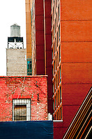 New York, New York City.Composition of different building types.