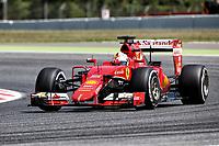 05 VETTEL sebastian (ger) ferrari sf15t action during 2015 Formula 1 FIA world championship, Spain Grand Prix, at Barcelona Catalunya from May 8th to 10th. Photo Gregory Lenormand / DPPI
