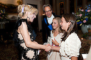 COURTNEY LOVE; THE EARL OF MARCH;  LADY ELOISE GORDON-LENNOX;; MIA SELMAN; , The Goodwood Ball. In aid of Gt. Ormond St. hospital. Goodwood House. 27 July 2011. <br /> <br />  , -DO NOT ARCHIVE-© Copyright Photograph by Dafydd Jones. 248 Clapham Rd. London SW9 0PZ. Tel 0207 820 0771. www.dafjones.com.