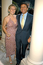 The HON.SIR ROCCO & LADY FORTE at the Tatler Summer Party in association with Moschino at Home House, 20 Portman Square, London W1 on 29th June 2005.<br /><br />NON EXCLUSIVE - WORLD RIGHTS