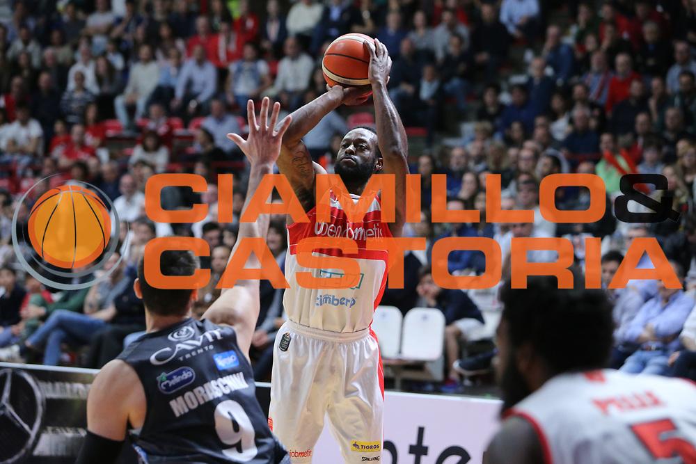 johnson<br /> Openjobmetis Varese - Dolomiti Energia Aquila Basket Trento<br /> Lega Basket Serie A 2016/2017<br /> Varese, 15/04/2017<br /> Foto Ciamillo-Castoria
