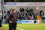 FGR away support during the EFL Sky Bet League 2 match between Lincoln City and Forest Green Rovers at Sincil Bank, Lincoln, United Kingdom on 3 November 2018.