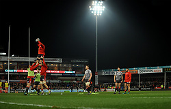 Gloucester Rugby players warm up prior to kick-off - Mandatory by-line: Nizaam Jones/JMP - 22/02/2019 - RUGBY - Kingsholm - Gloucester, England- Gloucester Rugby v Saracens - Gallagher Premiership Rugby