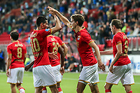 Alkmaar, 19-08-2017, AZ - ADO Den Haag, AZ speler Marco Vejinovic, AZ speler Guus Til