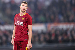 February 3, 2019 - Rome, Rome, Italy - Edin Dzeko of AS Roma looks dejected during the Serie A match between Roma and AC Milan at Stadio Olimpico, Rome, Italy on 3 February 2019. (Credit Image: © Giuseppe Maffia/NurPhoto via ZUMA Press)