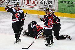 31.01.2012, Albert Schultz Halle, Wien, AUT, EBEL, UPC Vienna Capitals vs HC Orli Znojmo, im Bild Martin Planek, (HC Orli Znojmo, #9), Adam Havlik, (HC Orli Znojmo, #88) und Jakub Stehlik, (HC Orli Znojmo, #31) bei ihrem verletzten Teamkameraden Radek Haman, (HC Orli Znojmo, #17) // during the icehockey match of EBEL between UPC Vienna Capitals (AUT) and HC Orli Znojmo (CZE) at Albert Schultz Halle, Vienna, Austria on 31/01/2012,  EXPA Pictures © 2012, PhotoCredit: EXPA/ T. Haumer