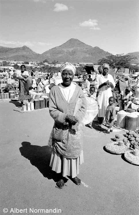Woman standing in market