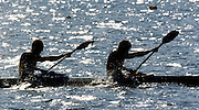 20040824 Olympic Games Athens Greece .[Canoe/Kayak Flatwater Racing]  Lake Schinias..Men's C2 - Training lake.. .Photo  Peter Spurrier.email images@intersport-images.com...