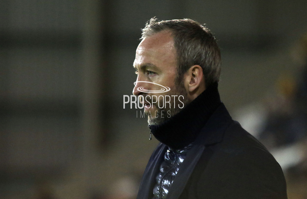 Shaun Derry before the Sky Bet League 2 match between Morecambe and Cambridge United at the Globe Arena, Morecambe, England on 24 November 2015. Photo by Pete Burns.
