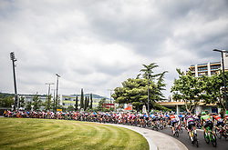 Peloton in Koper during Stage 1 of 24th Tour of Slovenia 2017 / Tour de Slovenie from Koper to Kocevje (159,4 km) cycling race on June 15, 2017 in Slovenia. Photo by Vid Ponikvar / Sportida