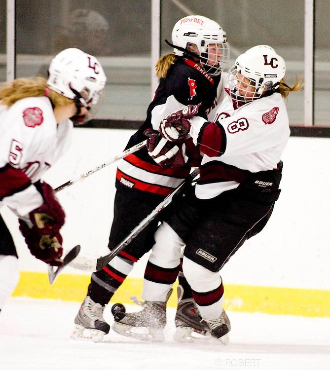 2011 Pomfret School Girls Hockey. (Photo by Robert Falcetti)..
