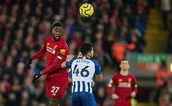 LIVERPOOL, ENGLAND - Saturday, November 30, 2019: Liverpool's Divock Origi during the FA Premier League match between Liverpool FC and Brighton & Hove Albion FC at Anfield. (Pic by David Rawcliffe/Propaganda)