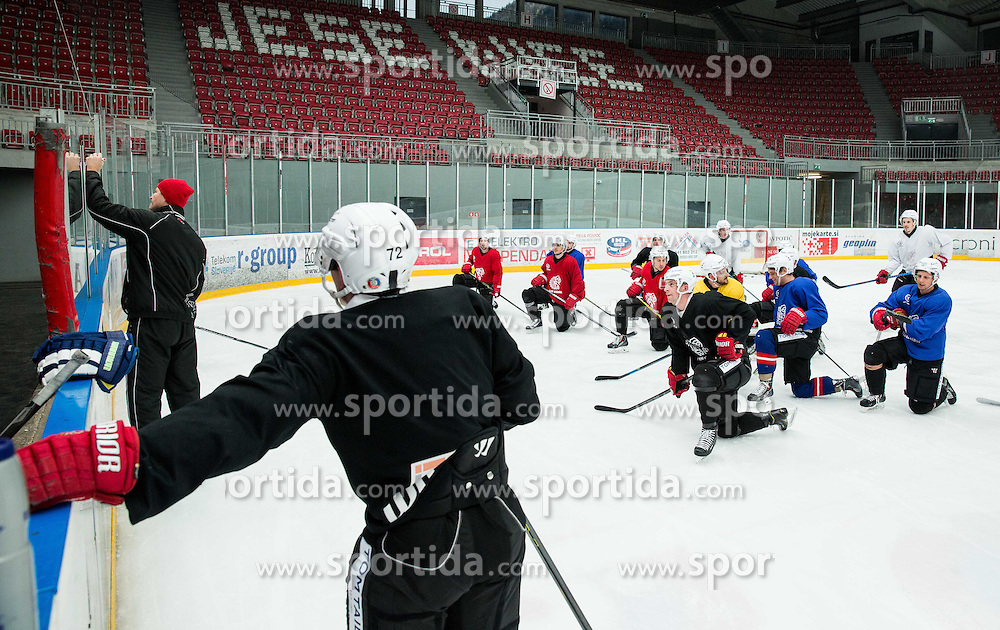 Nik Zupancic, head coach during practice session of HD Jesenice, on April 5, 2015 in Arena Podmezakla, Jesenice, Slovenia. Photo by Vid Ponikvar / Sportida