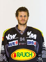 29.08.2012, Messestadion, Dornbirn, AUT, EBEL, Spielerportraits, Dornbirner Eishockey Club, im Bild David Slivnik, (Dornbirner Eishockey Club, #24) // during Dornbirner Eishockey Club Player Portrait Session at the Messestadion, Dornbirn, Austria on 2012/08/29, EXPA Pictures © 2012, PhotoCredit: EXPA/ Peter Rinderer