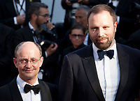 Producer Ed Guiney and Director Yorgos Lanthimos arriving to the Closing Ceremony and awards at the 70th Cannes Film Festival Sunday 28th May 2017, Cannes, France. Photo credit: Doreen Kennedy