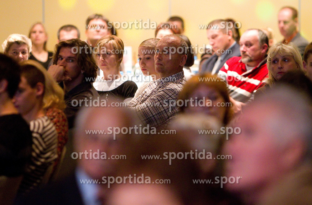 Jurij Rovan (L) in Audience during the Slovenia's Athlete of the year award ceremony by Slovenian Athletics Federation AZS, on November 12, 2008 in Hotel Mons, Ljubljana, Slovenia.(Photo By Vid Ponikvar / Sportida.com) , on November 12, 2010.