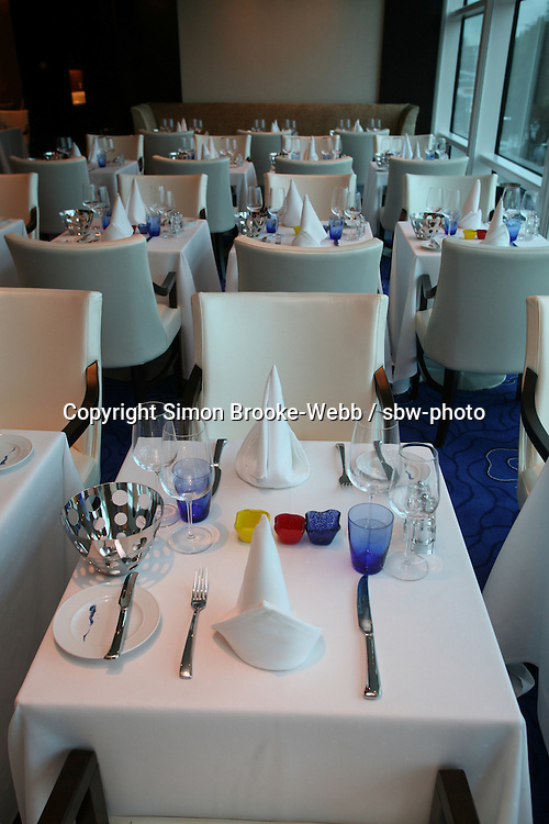 Celebrity Solstice in Hamburg..Blu restaurant .