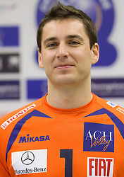 Andrej Flajs at press conference of volleyball club ACH Volley before new season 2010/2011, on November 5, 2010, in Ljubljana, Slovenia. (Photo by Vid Ponikvar / Sportida)