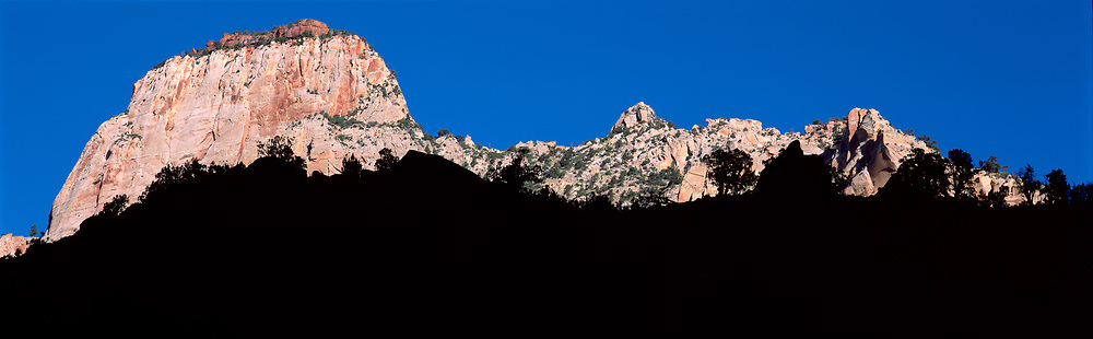 Big Butte and shadow, Zion National Park, Utah, USA, 1997