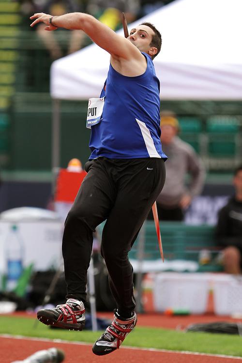 Olympic Trials Eugene 2012: men's javelin, Chaput