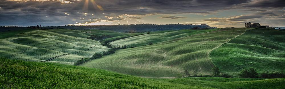 Rolling Fields and Hilltop Villa. (Photo by Travel Photographer Matt Considine)