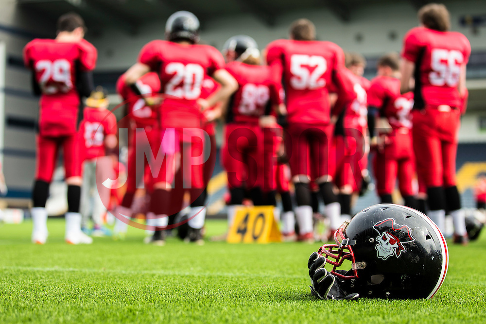East Kilbride Pirates warm up - Mandatory by-line: Jason Brown/JMP - 27/08/2016 - AMERICAN FOOTBALL - Sixways Stadium - Worcester, England - London Warriors v London Blitz - BAFA Britbowl Finals Day