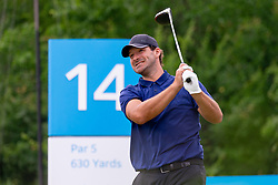 May 9, 2019 - Dallas, TX, U.S. - DALLAS, TX - MAY 09: Tony Romo hits his tee shot on #14 during the first round of the AT&T Byron Nelson on May 9, 2019 at Trinity Forest Golf Club in Dallas, TX. (Photo by Andrew Dieb/Icon Sportswire) (Credit Image: © Andrew Dieb/Icon SMI via ZUMA Press)