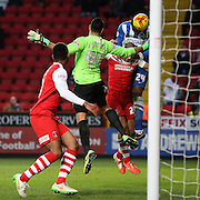 Rohan Ince scores to make it 1-0 to Brighton during the Sky Bet Championship match between Charlton Athletic and Brighton and Hove Albion at The Valley, London, England on 10 January 2015.