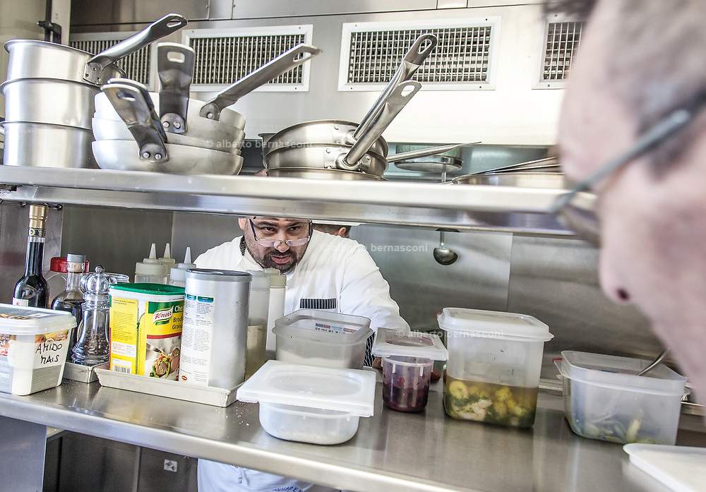 Milan, Bollate, InGalera Restaurant: chef Ivan and Fabio