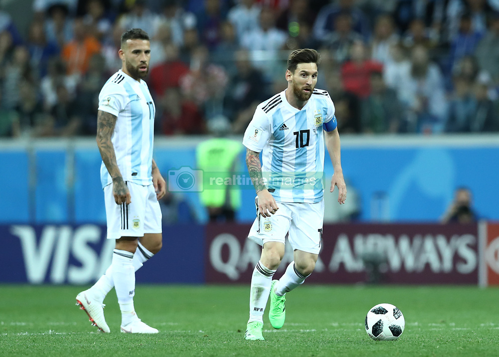 June 21, 2018 - Nizhny Novgorod, Russia - Group D Argentina v Croazia - FIFA World Cup Russia 2018.Lionel Messi (Argentina) in action at Nizhny Novgorod Stadium, Russia on June 21, 2018. (Credit Image: © Matteo Ciambelli/NurPhoto via ZUMA Press)